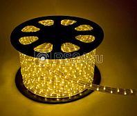 Шнур светодиодный Дюралайт постоянного свечения 2W 220В 1.8Вт/м d13мм желтый