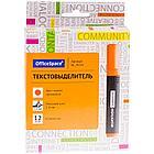Маркер текстовыделитель OfficeSpace оранжевый 1-4 мм, фото 3