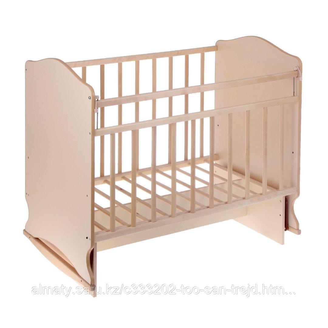 Детская кровать МОРОЗКО с маятником + ящик  ,цвет береза-белый