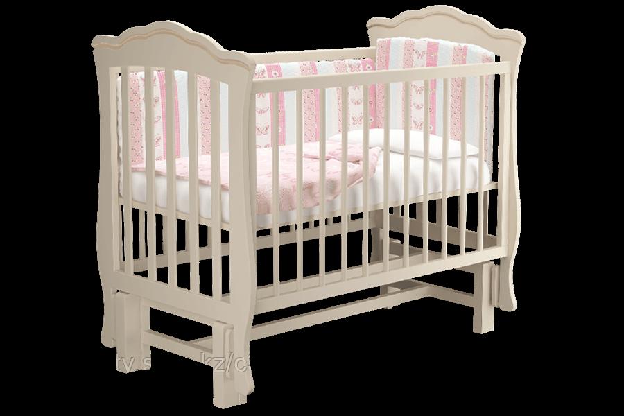 Детская кровать Вэлла 2 с маятником,цвет белый  .слоновая кость