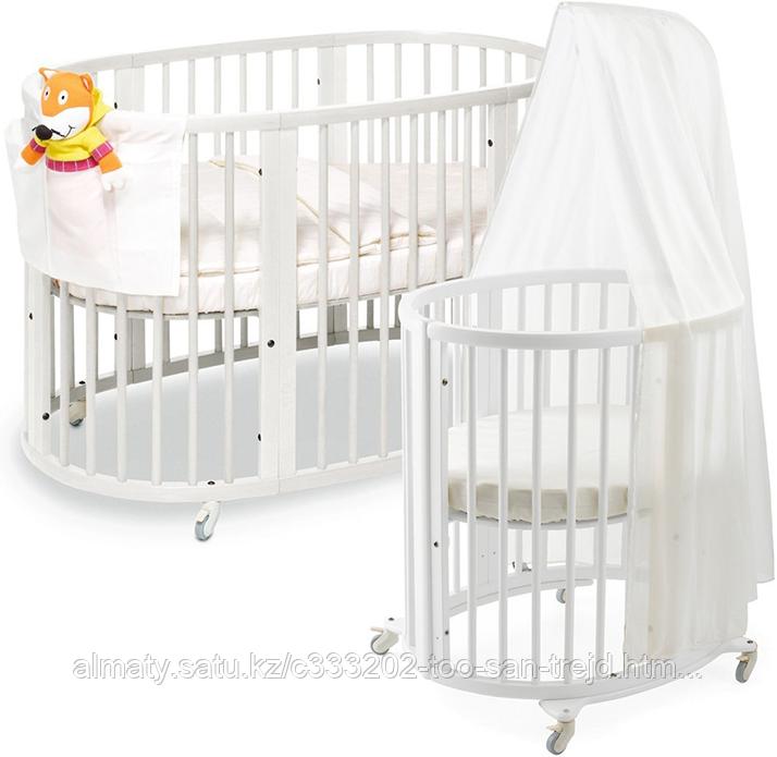 Детская кровать универсальная Merryhappy 6/1,цвет белый