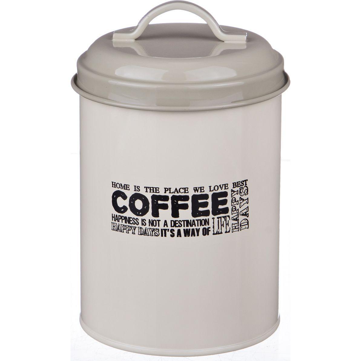 """Емкость для сыпучих продуктов Agness """"кофе"""" диам.11 см. высота 15 см."""