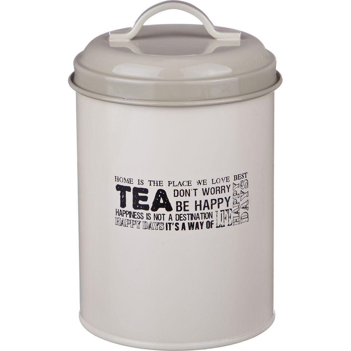 """Емкость для сыпучих продуктов Agness """"чай"""" диам.11 см. высота 15 см."""