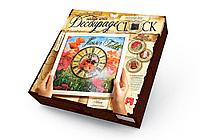 "Комплект для творчества ""Decoupage clock Маки"" с рамкой"