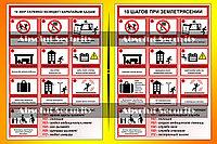 """Информационный стенд """"10 шагов при землетрясении"""""""