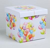 Складная коробка «Праздничная», 20 × 20 × 20 см, виды