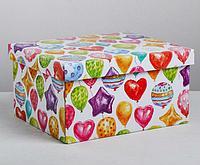 Складная коробка «Праздничная», 30 × 25 × 15 см, виды