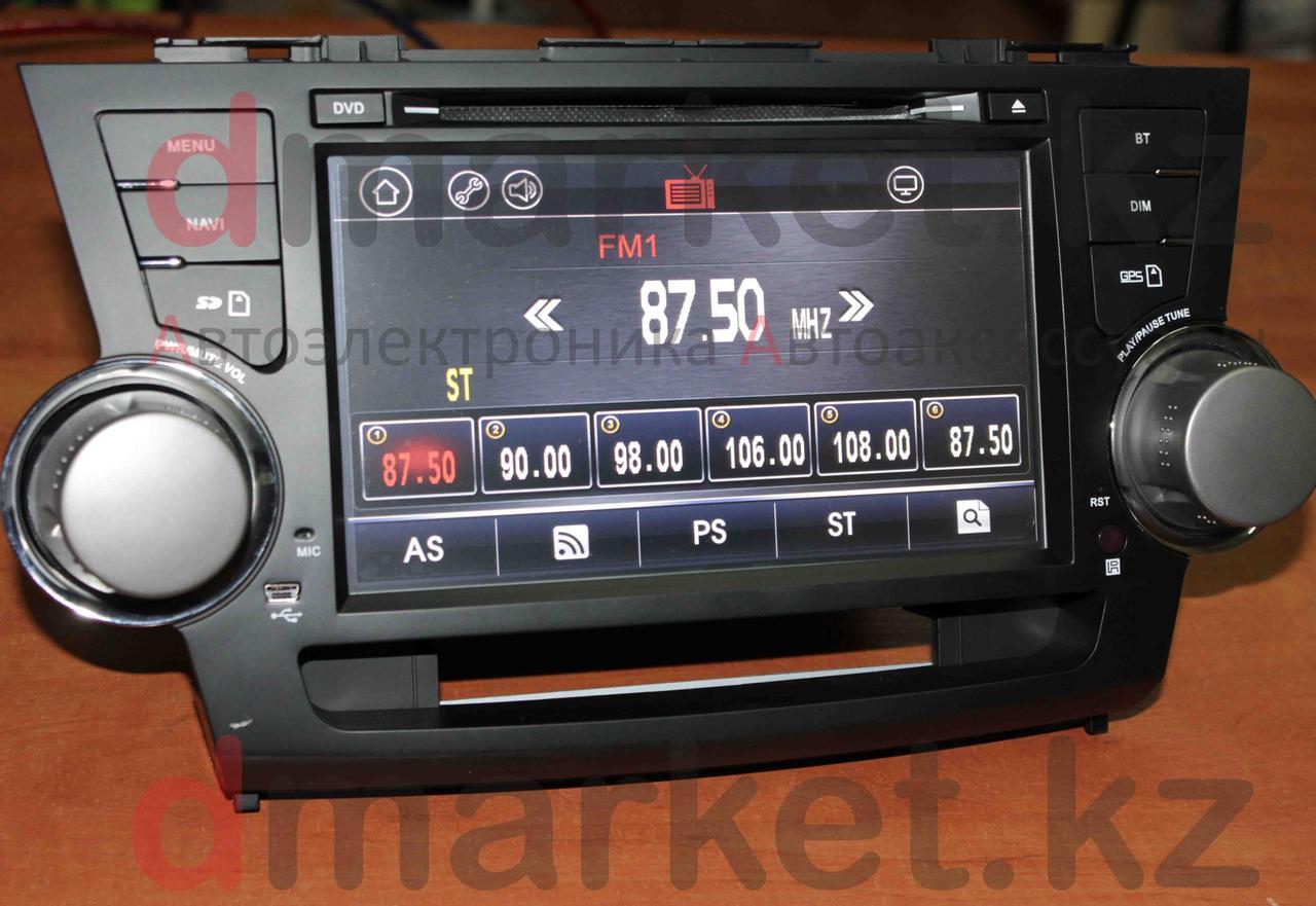 "Автомагнитола Toyota Highlander 2006-2012, GPS, экран 8"", Bluetooth"