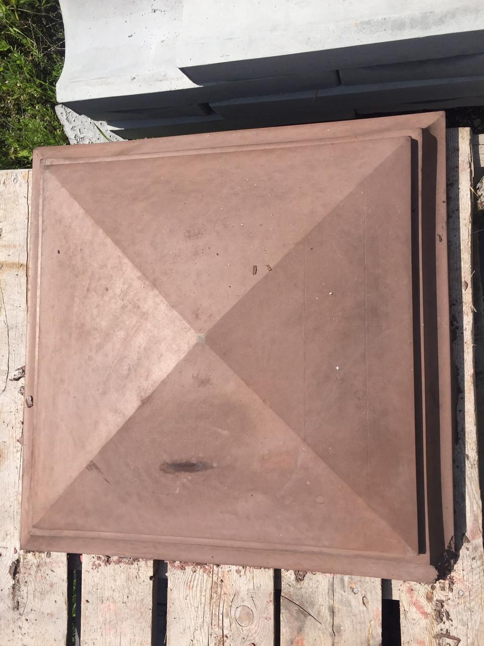 Накрывочный элемент на колонну коричневый 65*65