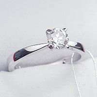 Сертификат GIA 0.40Сt VS2/J Good-Cut Золотое 585 пр. кольцо с Бриллиантом, фото 1
