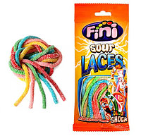 """Fini Мармелад mini """"Спагеттини подсахаренные 6 цветов"""" 90 гр. / Испания, фото 1"""