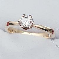 Золотое кольцо с Бриллиантом SI1/G 0.30Ct, фото 1