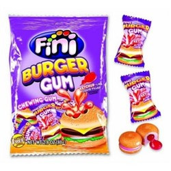 """Жев.резинка """"Бургер"""" с вишнево-клубнич. наполнит. 80гр  /FINI Испания/"""