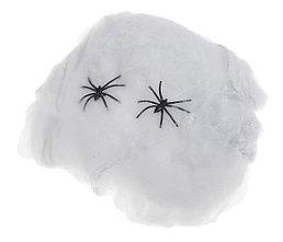 Прикол. Паутина и 2 паука, белая