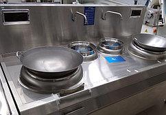 Плита индукционная двухконфорочная с 2 кранами