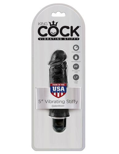 PipeDream King Cock 5''Vibrating Stiffy Вибратор черный