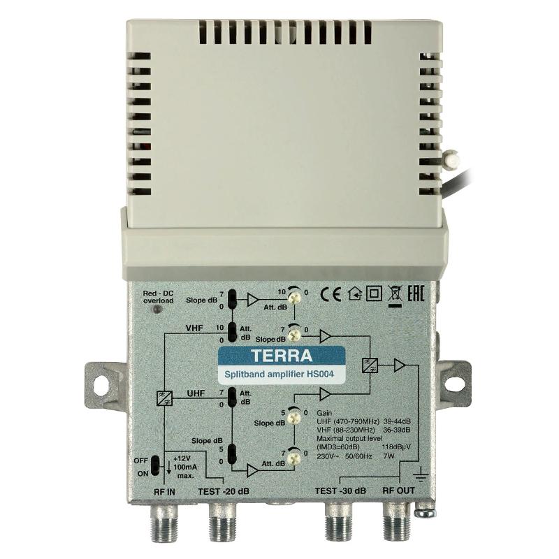 Усилитель квартирный одновходной TERRA HS004