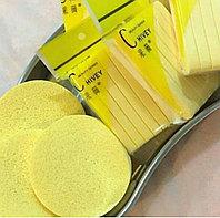 Губки жёлтые из целлюлозы