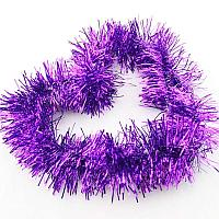 Новогодняя гирлянда мишура (цвет: фиолетовый)