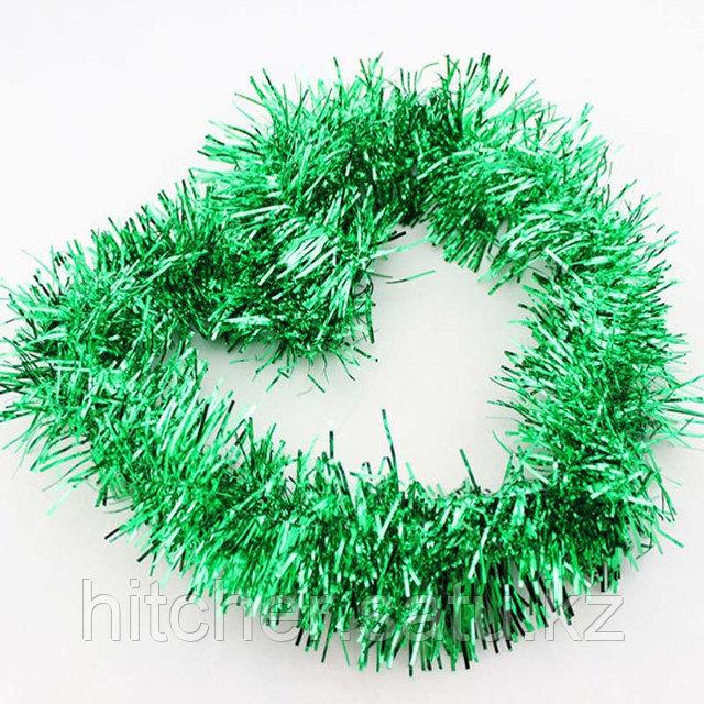 Новогоднее украшение гирлянда зелёная мишура