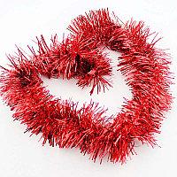Новогодняя мишура (цвет: красный)