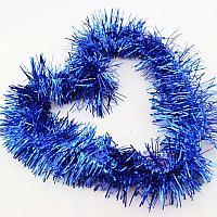 Ёлочное украшение мишура  (цвет: синий)