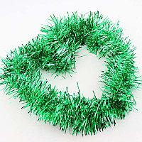Новогоднее украшение мишура (цвет: зелёная)