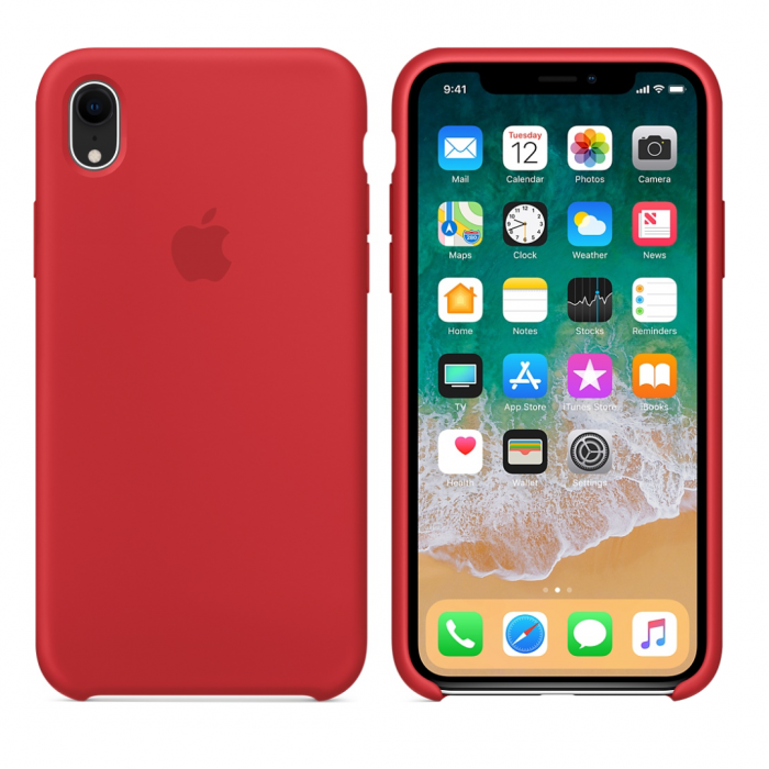 Силиконовый чехол для Apple iPhone XR (красный)
