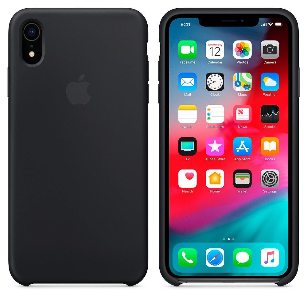 Силиконовый чехол для Apple iPhone XR (чёрный)