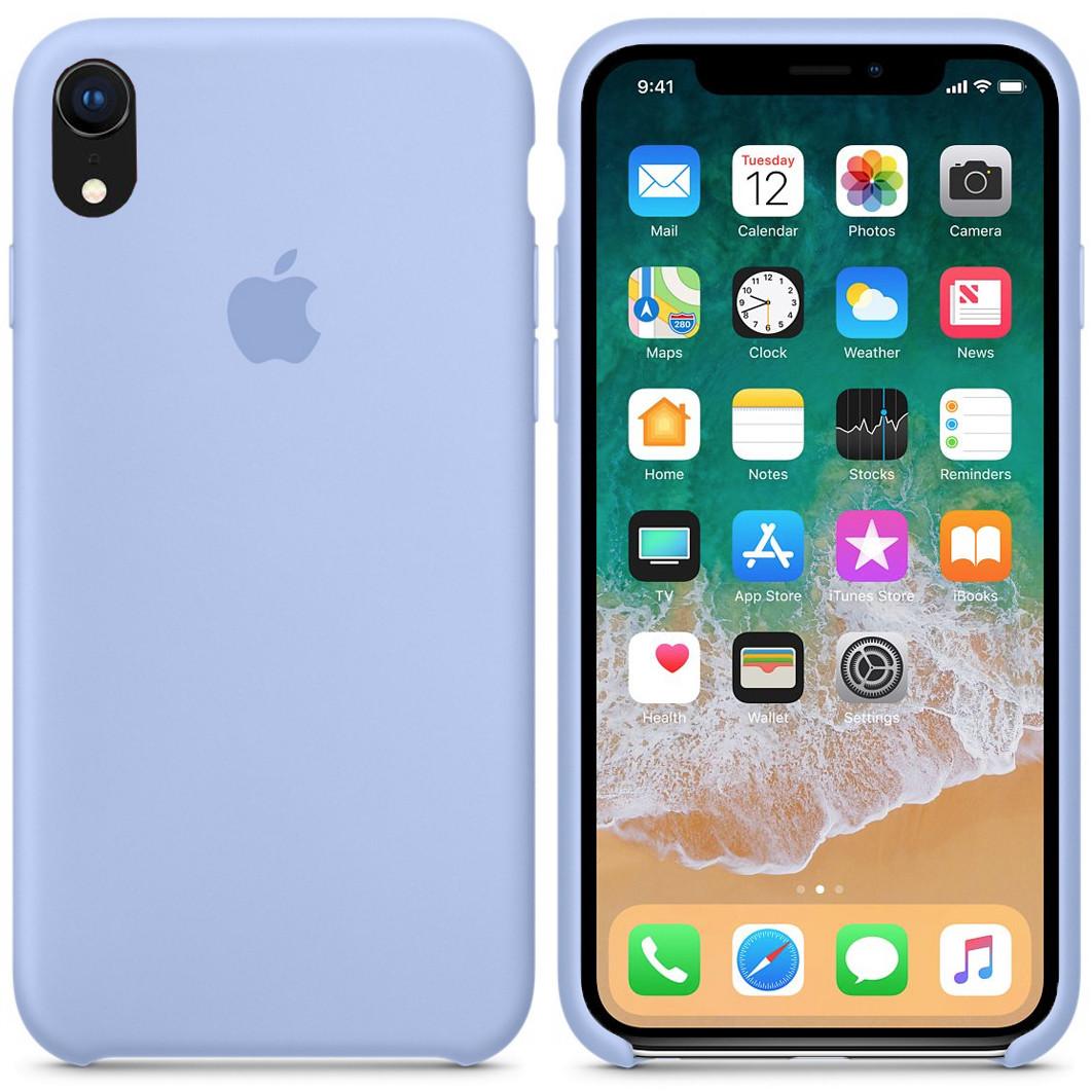 Силиконовый чехол для Apple iPhone XR (голубой)