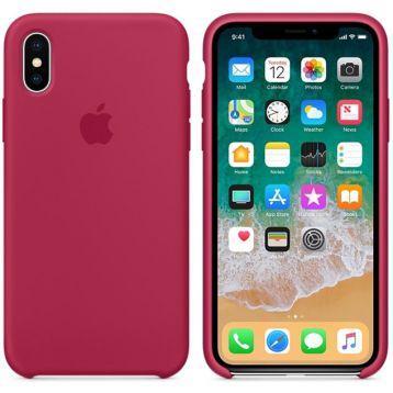 Силиконовый чехол для Apple iPhone XR (розовый)