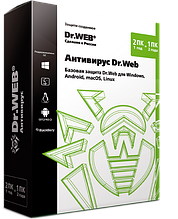 Антивирус Dr.Web, на 12 мес., 3 лиц. Электнонная лицензия