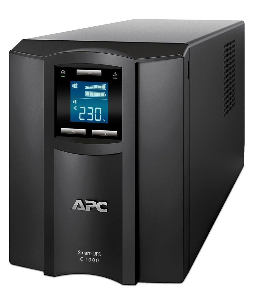ИБП (UPS) APC Smart-UPS SC Line-Interactive 1000VA/600W Tower IEC LCD USB SMC1000I