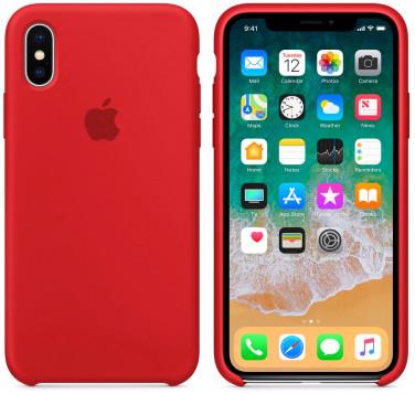 Силиконовый чехол для Apple iPhone Xs (красный)