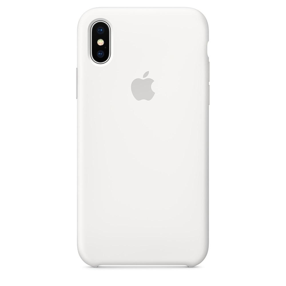 Силиконовый чехол для Apple iPhone Xs (белый)