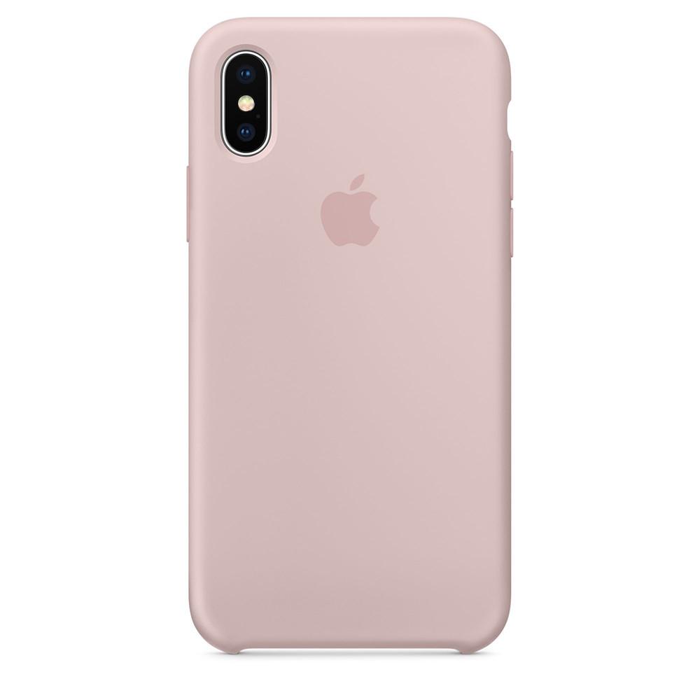 Силиконовый чехол для Apple iPhone Xs (пудра)