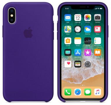 Силиконовый чехол для Apple iPhone  Xs (фиолетовый)