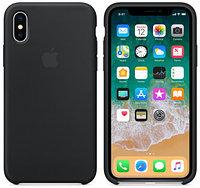Силиконовый чехол для Apple iPhone Xs (черный)
