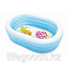 Детский надувной овальный бассейн 163х107х46 см, Intex 57482, фото 3
