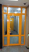 Изготовление и установка одностворчатых и двухстворчатых алюминиевых дверей, холодной и тёплой серии.
