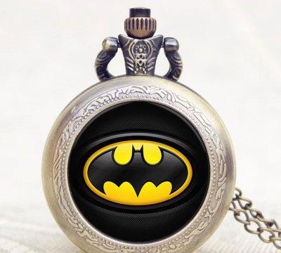 Карманные кварцевые часы на цепочке Batman
