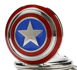 Карманные кварцевые часы на цепочке Капитан Америка. Kaspi RED. Рассрочка.