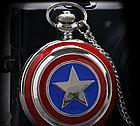 Карманные кварцевые часы на цепочке Капитан Америка, фото 2