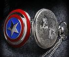 Карманные кварцевые часы на цепочке Капитан Америка, фото 6
