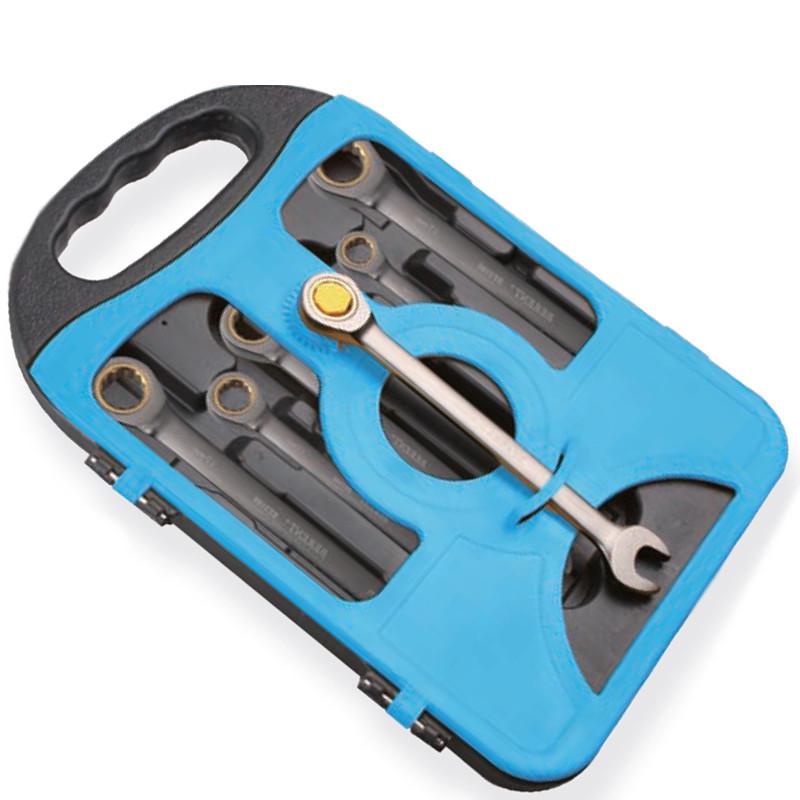 Набор комбинированных трещоточных ключей 7 шт. Berent BT 2816