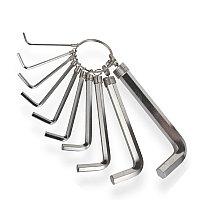 Набор L образных ключей шестигранник 10 шт. Berent BT2140 1,5-10мм.
