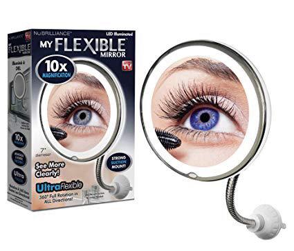 Зеркало с увеличением и подсветкой Ultra flexible mirror, фото 2