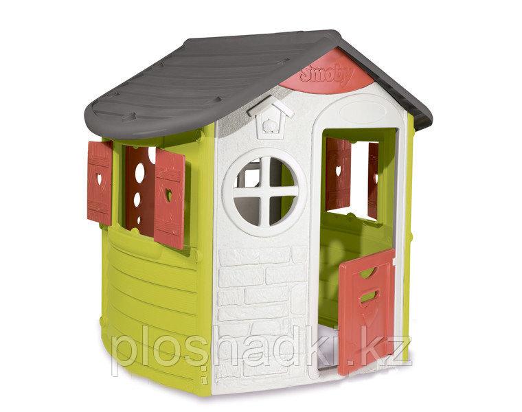 Домик игрушечный, окна со ставнями, почтовый ящик, дверь с ключом, прочный пластик