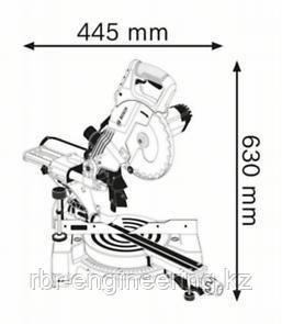 Пила торцовочная BOSCH GCM 800 SJ Professional 0601B19000, фото 2