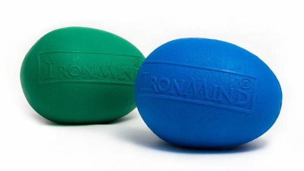 Комплект эспандеров IronMind EGG Blue + EGG Green. Кистевой эспандер яйцо.